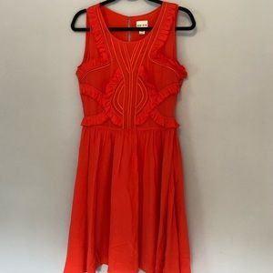 Reiss Deep Coral Dress